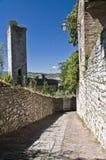 Vista panoramica di Gubbio. L'Umbria. Immagine Stock Libera da Diritti