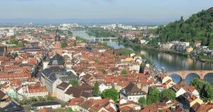 Vista panoramica di Heidelberg, Germania archivi video