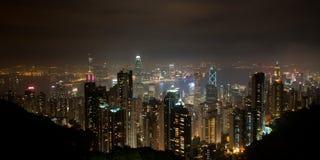 Vista panoramica di Hong Kong Fotografia Stock Libera da Diritti