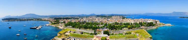 Vista panoramica di Kerkyra immagini stock