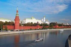 Vista panoramica di Kremlin a Mosca Fotografia Stock Libera da Diritti