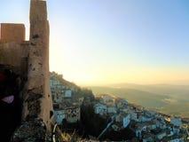 Vista panoramica di La Iruela immagine stock