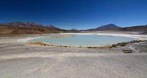 Vista panoramica di Laguna Honda Dipartimento di Potosà bolivia fotografia stock