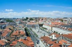 Vista panoramica di Lisbona Fotografie Stock Libere da Diritti
