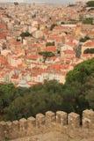 Vista panoramica di Lisbona Immagine Stock