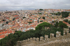 Vista panoramica di Lisbona Fotografia Stock