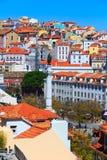Vista panoramica di Lisbona, Portogallo Fotografia Stock Libera da Diritti