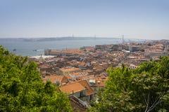 Vista panoramica di Lisbona, Portogallo, Europa Immagini Stock