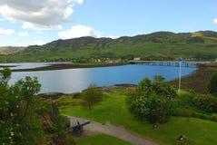Vista panoramica di Loch Ness immagini stock libere da diritti