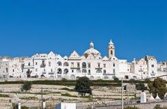 Vista panoramica di Locorotondo. La Puglia. L'Italia. Fotografie Stock