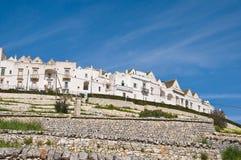 Vista panoramica di Locorotondo La Puglia L'Italia Immagini Stock
