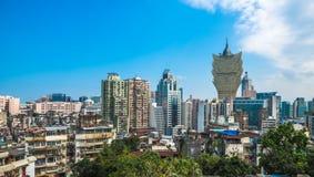 Vista panoramica di Macao del centro Fotografia Stock Libera da Diritti