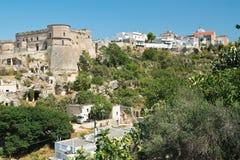 Vista panoramica di Massafra La Puglia L'Italia fotografia stock libera da diritti