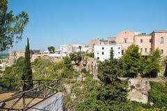 Vista panoramica di Massafra La Puglia L'Italia Immagine Stock Libera da Diritti
