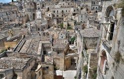 Vista panoramica di Matera. La Basilicata. Immagine Stock