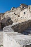 Vista panoramica di Matera. La Basilicata. L'Italia. Fotografia Stock