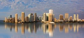 Vista panoramica di Miami del centro Immagini Stock
