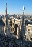 Vista panoramica di Milano Fotografie Stock Libere da Diritti
