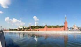 Vista panoramica di Mosca Kremlin Immagine Stock Libera da Diritti