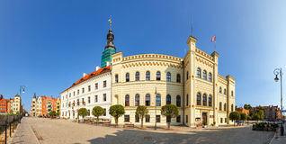 Vista panoramica di municipio in Glogow Glogow è una di più vecchie città in Polonia Fotografia Stock Libera da Diritti
