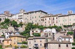 Vista panoramica di Narni. Il Lazio. L'Italia. Fotografie Stock Libere da Diritti