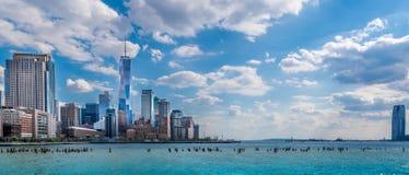 Vista panoramica di New York City Immagine Stock Libera da Diritti