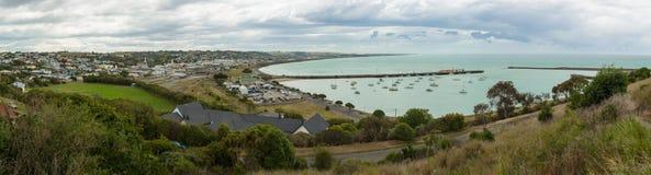 Vista panoramica di Oamaru Fotografie Stock
