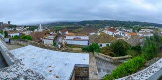Vista panoramica di Obidos fotografia stock