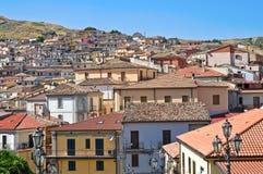 Vista panoramica di Oriolo La Calabria L'Italia Immagine Stock