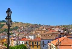 Vista panoramica di Oriolo La Calabria L'Italia Fotografia Stock