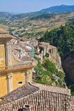Vista panoramica di Oriolo La Calabria L'Italia Immagini Stock Libere da Diritti