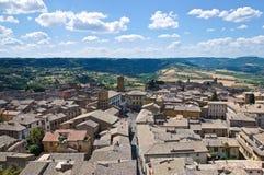 Vista panoramica di Orvieto. L'Umbria. L'Italia. Fotografie Stock Libere da Diritti