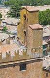 Vista panoramica di Orvieto. L'Umbria. L'Italia. Immagini Stock