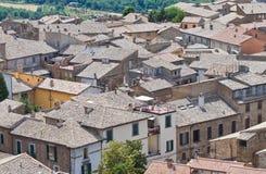 Vista panoramica di Orvieto. L'Umbria. L'Italia. Immagine Stock