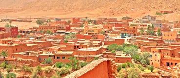 Vista panoramica di Ouarzazate - porta del deserto nel Marocco fotografia stock libera da diritti