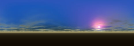 Vista panoramica di paesaggio royalty illustrazione gratis