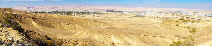 Vista panoramica di Paran e del deserto di Arava fotografia stock