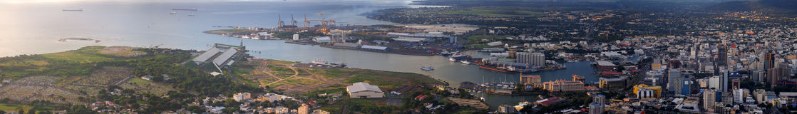 Vista panoramica di Port Louis Immagini Stock Libere da Diritti