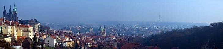 Vista panoramica di Praga immagine stock