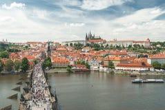 Vista panoramica di Praga, Repubblica ceca Fotografia Stock