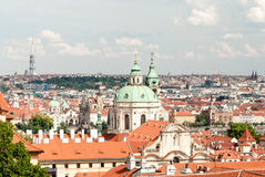 Vista panoramica di Praga, Repubblica ceca Fotografie Stock Libere da Diritti