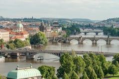 Vista panoramica di Praga, Repubblica ceca Fotografia Stock Libera da Diritti