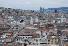 Vista panoramica di Quito Fotografia Stock Libera da Diritti