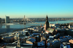 Vista panoramica di Riga Fotografie Stock