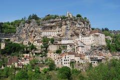 Vista panoramica di Rocamadour Immagini Stock