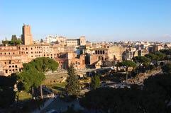 Vista panoramica di Roma immagine stock