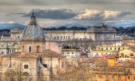 Vista panoramica di Roma Fotografia Stock Libera da Diritti
