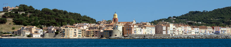 Vista panoramica di Saint Tropez Immagine Stock