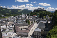 Vista panoramica di Salisburgo, Austria fotografie stock libere da diritti