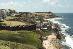 Vista panoramica di San Juan Fotografia Stock